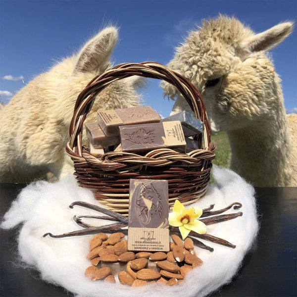 Sapone Artigianale Cheratina di Alpaca Mandorla e Vaniglia
